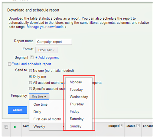 Time management tips use scheduled reports in AdWords