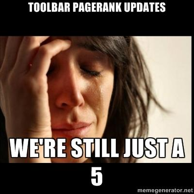 Toolbar Pagerank Updates