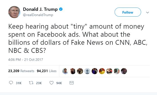 facebook ad targeting fake news
