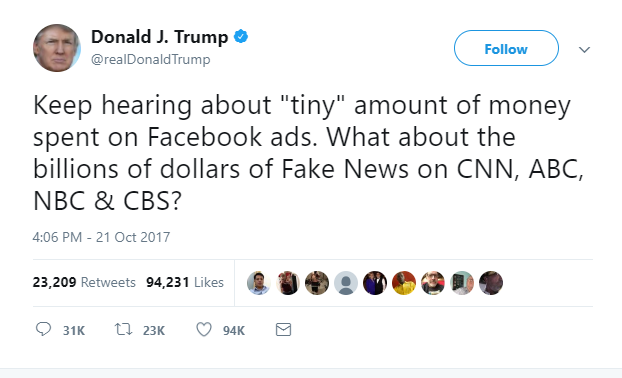 facebook ad targeting fake news