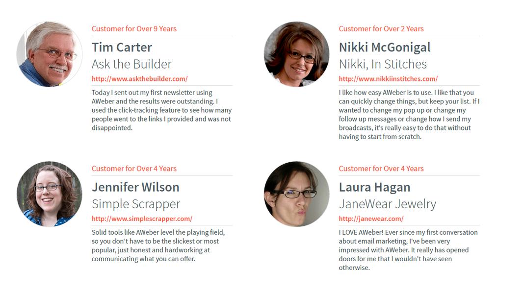 Trust signals customer testimonials examples