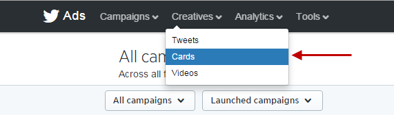 Twitter ads create new card