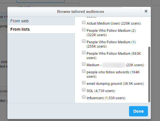 twitter ads tailored audiences