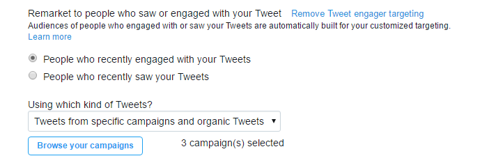 twitter ads engager targeting