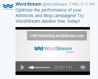 Twitter ads WordStream video ad