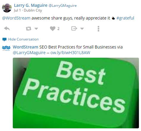 Twitter Best Practices RT