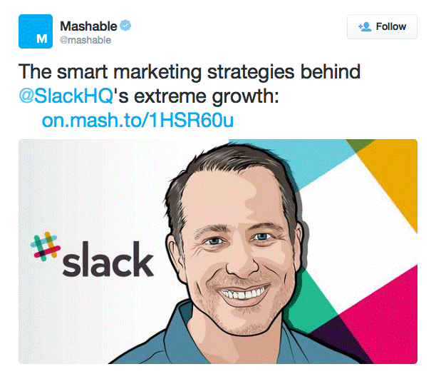 Twitter campaign ad example Mashable