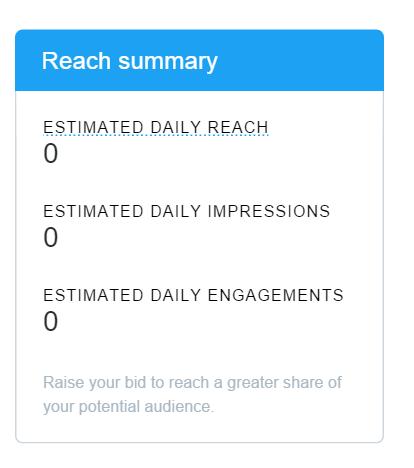 twitter lead gen reach calculator