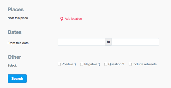 Twitter page advanced search location