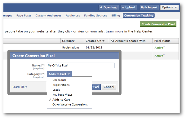 Unconventional Facebook advertising strategies tracking pixel