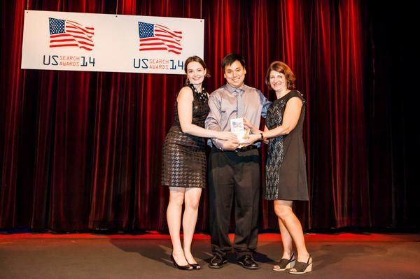 US Search Awards 2015 Larry Kim onstage during the 2014 event