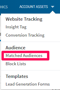 linkedin matched audiences tips
