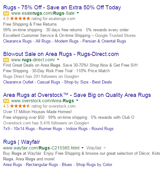 numbers in ppc ads