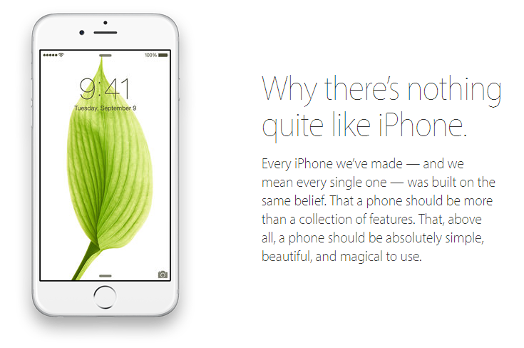 Value proposition examples iPhone