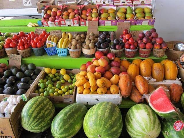 Image of a fruit stand