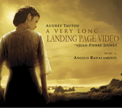 Video landing pages a very long engagement parody