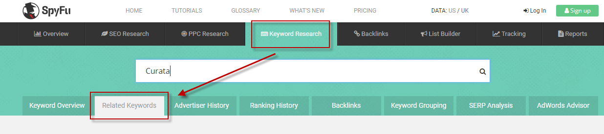 Ways to find competitor keywords SpyFu related keywords report