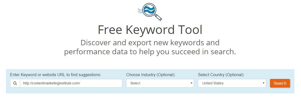 Ways to find competitor keywords WordStream Free Keyword Tool search by URL