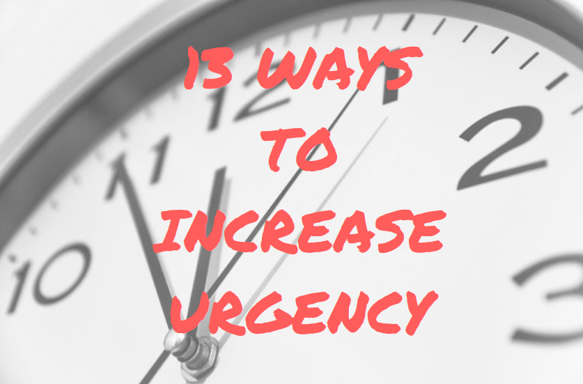 how to increase urgency and drive sales