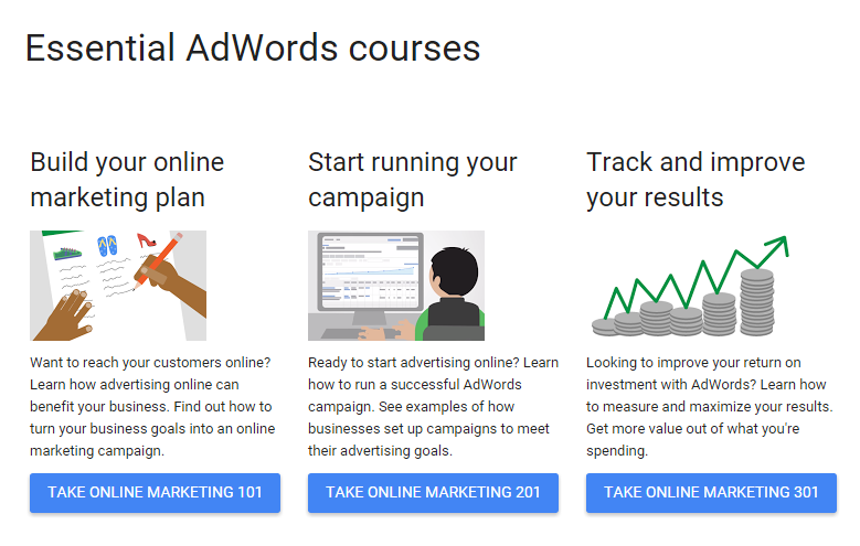 Ways to leartn AdWords without getting certified Google Essentials course