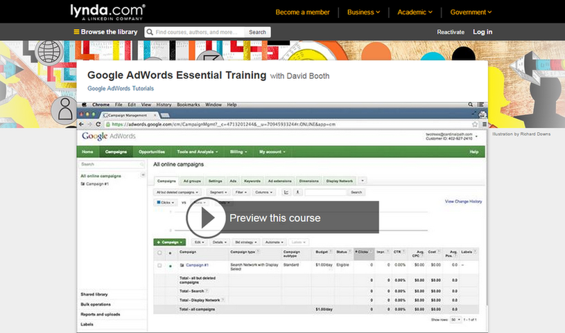 Ways to learn AdWords without getting certified Lynda.com training