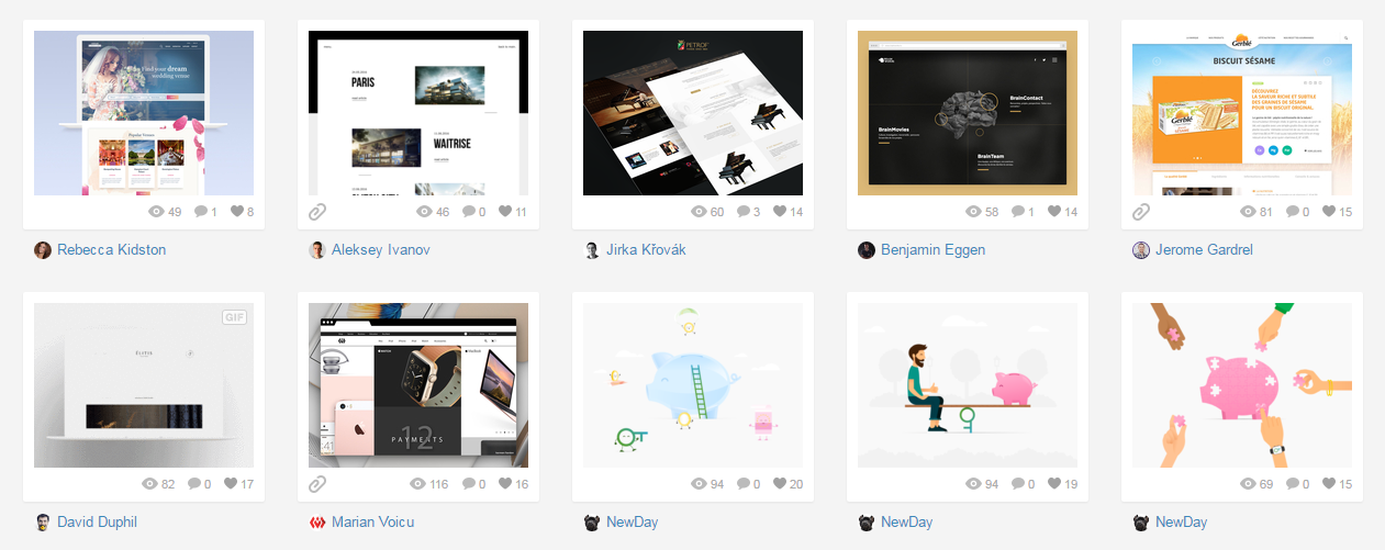 Website design inspiration Dribbble