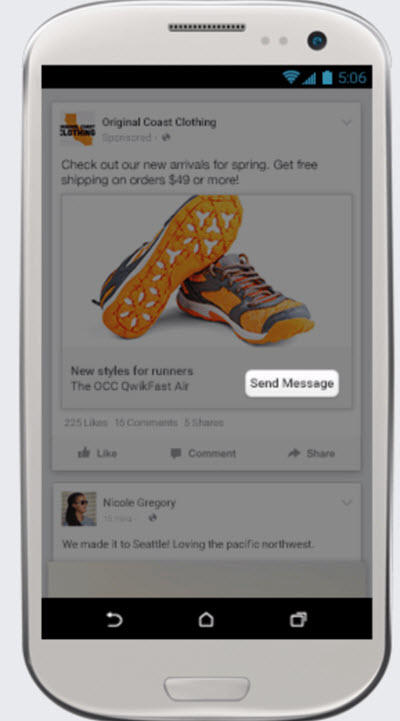 what are facebook messenger ads