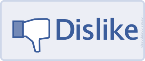 why did my facebook likes go down picture of facebook dislike button