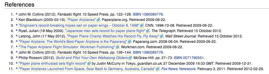 Wikipedia nofollow links