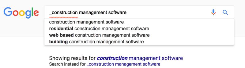 Google wildcard early stage buyer keywords