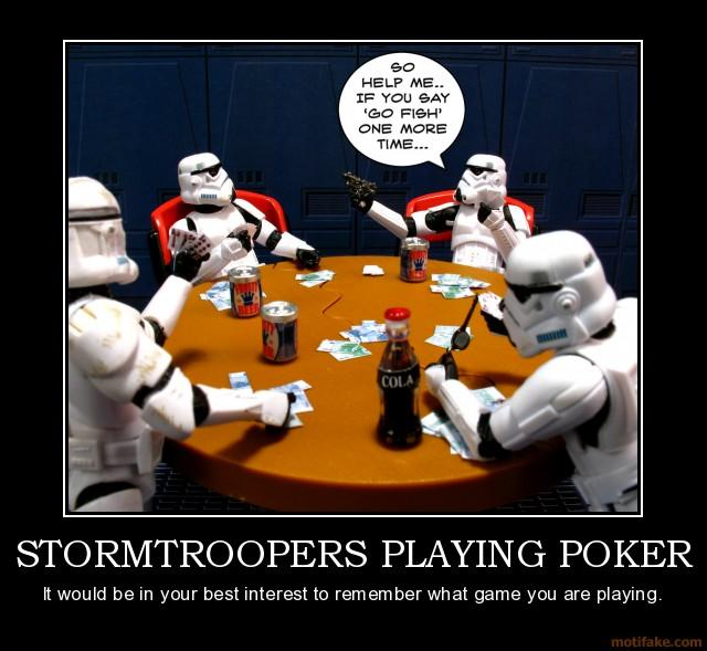 Winning AdWords stormtroopers playing poker