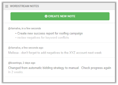 notes in wordstream advisor