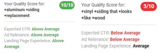 wordstream advisor keyword level quality score insights