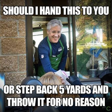 Pete Carroll coffee meme
