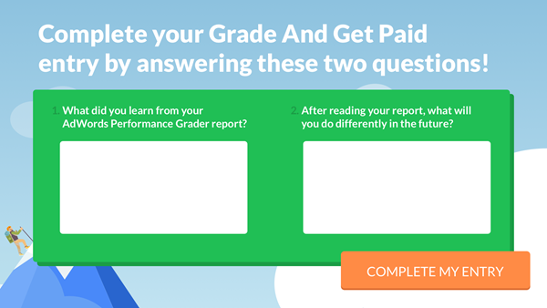 grade and get paid adwords contest entry questions