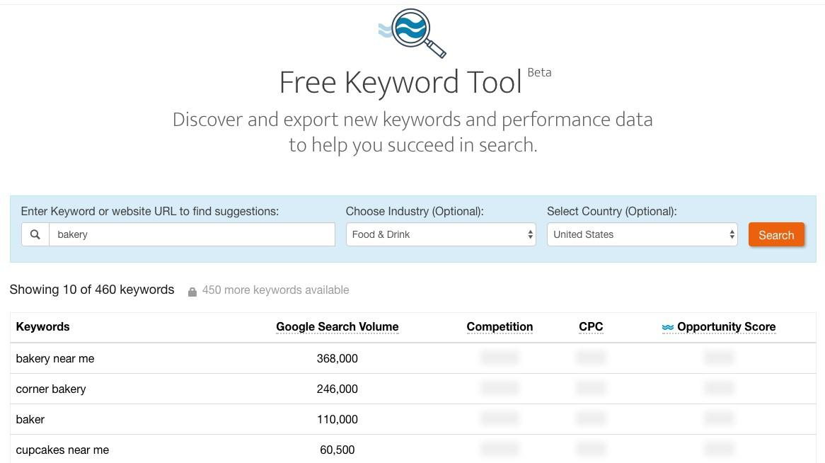 wordstream keyword tool