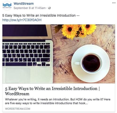 wordstream facebook ads