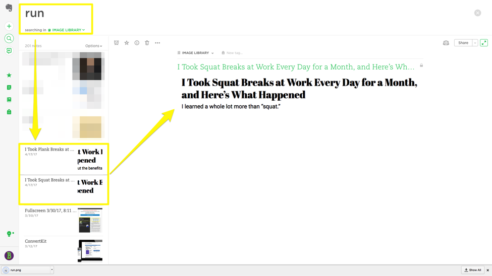 Writing Time Management Evernote